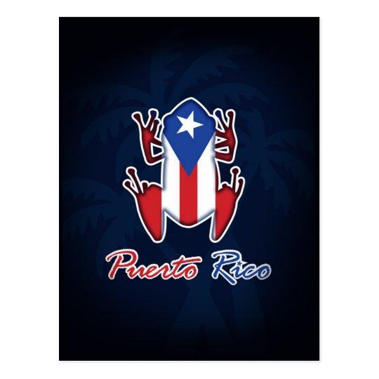 Puerto Rico Coqui Frog Postcard