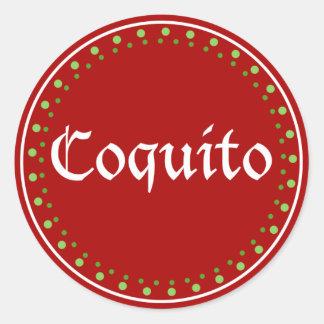 Puerto Rico: Coquito Classic Round Sticker