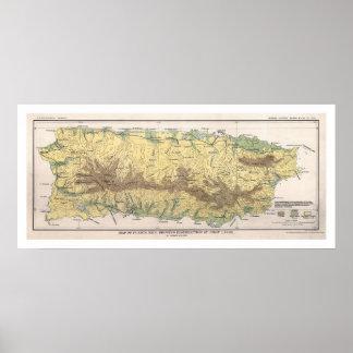Puerto Rico Crop Map 1899 Poster