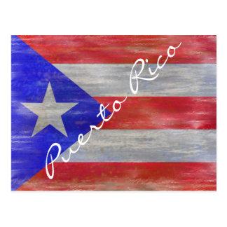 Puerto Rico distressed Puerto Rican flag Postcard