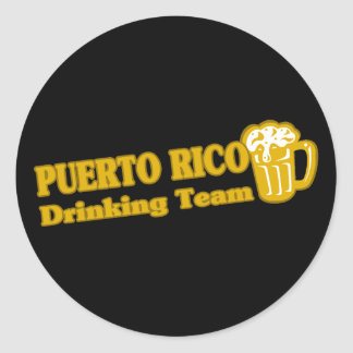 Puerto Rico Drinking Team Classic Round Sticker