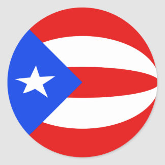 Puerto Rico Fisheye Flag Sticker