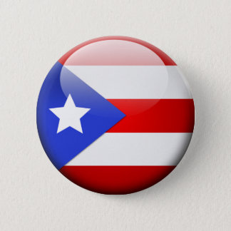 Puerto Rico Flag 2 Inch Round Button