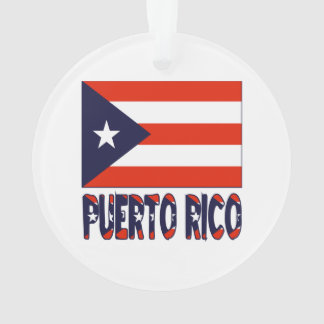Puerto Rico Flag and Words