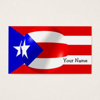 Puerto Rico Flag Business Card