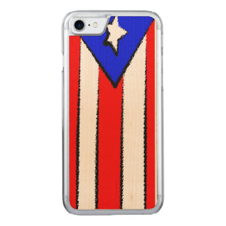 Puerto Rico Flag Carved iPhone 7 Case