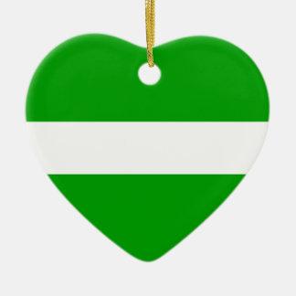 puerto-rico Flag Ceramic Heart Ornament