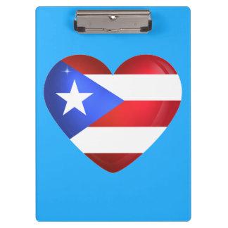 Puerto Rico Flag Clipboard