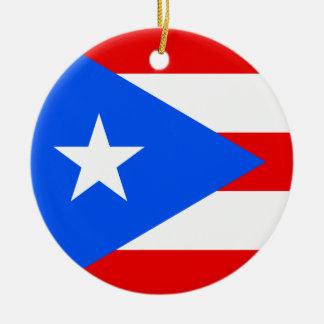 Puerto Rico flag custom Christmas tree ornament