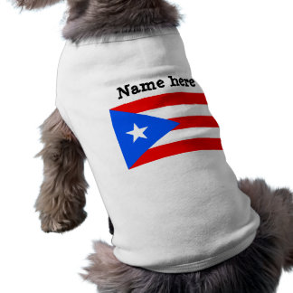 Puerto Rico Flag Dog T-shirt