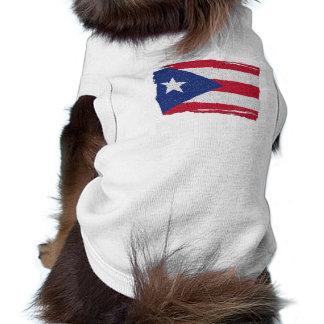 PUERTO RICO FLAG DOG TEE SHIRT
