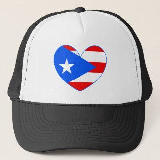 Puerto Rico Flag Heart Baseball Cap