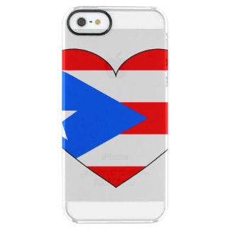 Puerto Rico Flag Heart Clear iPhone SE/5/5s Case