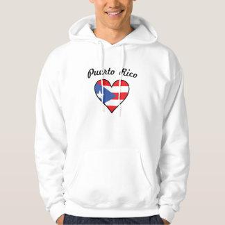Puerto Rico Flag Heart Hoodie