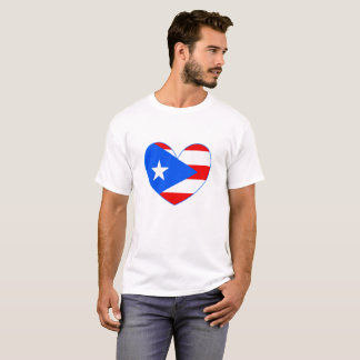 Puerto Rico Flag Heart Shirt