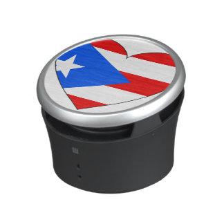 Puerto Rico Flag Heart Speaker