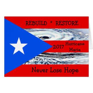Puerto Rico Flag Hurricane Maria 2017 Card