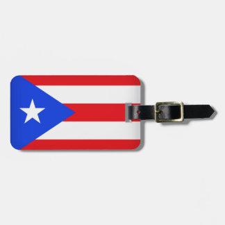 Puerto Rico Flag Luggage Tag