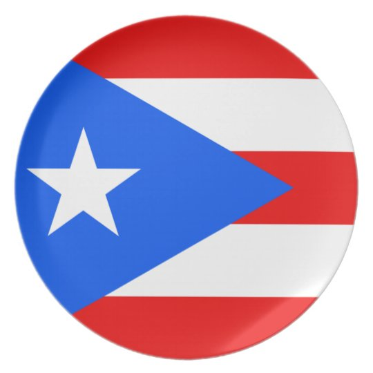 Puerto Rico Flag Plate