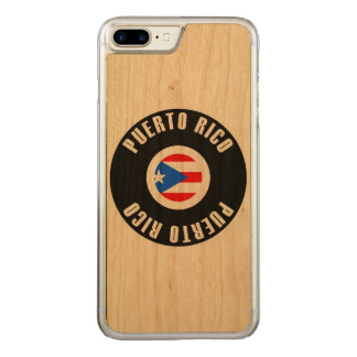 Puerto Rico Flag Simple Carved iPhone 8 Plus/7 Plus Case