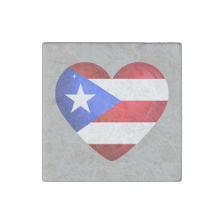 Puerto Rico Flag Stone Magnets