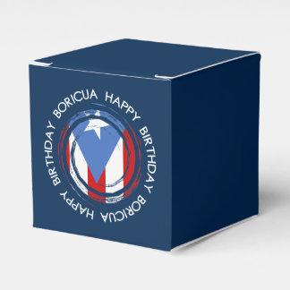 Puerto Rico : Flag Theme: Birthday Boricua Favor Boxes
