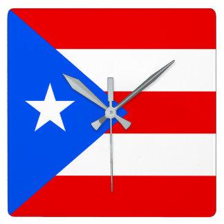 Puerto Rico Flag Wallclock