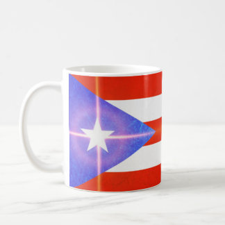 Puerto Rico Flag with Sparkling Star Coffee Mug