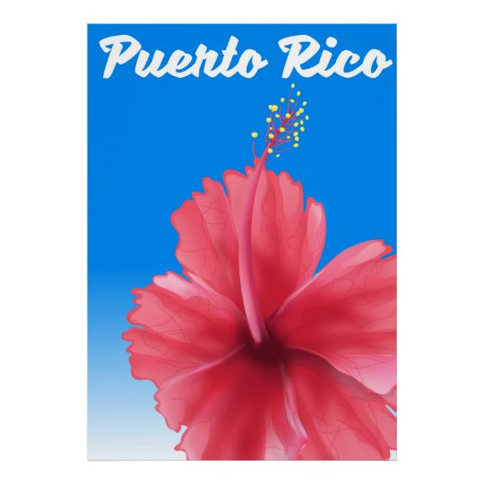 Puerto Rico Flor de maga travel poster