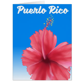 Puerto Rico Flor de maga travel poster Card