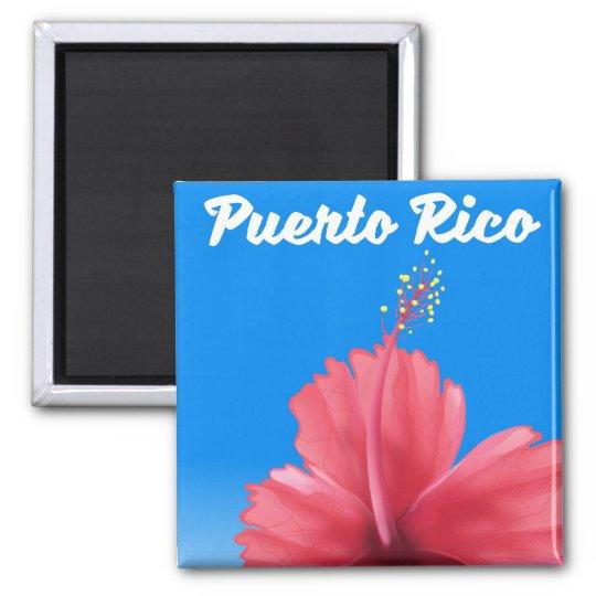 Puerto Rico Flor de maga travel poster Magnet