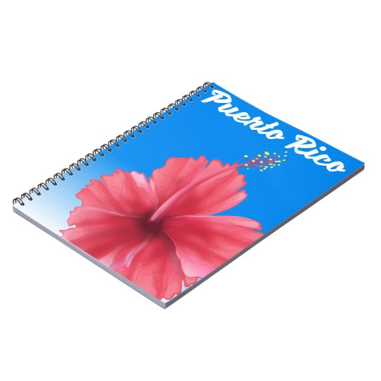 Puerto Rico Flor de maga travel poster Notebook
