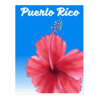 Puerto Rico Flor de maga travel poster Postcard