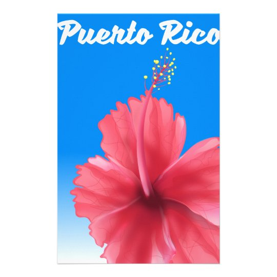 Puerto Rico Flor de maga travel poster Stationery