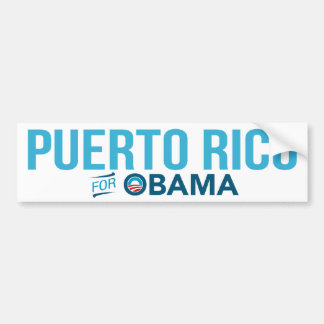 Puerto Rico For Barack Obama Biden Bumper Sticker