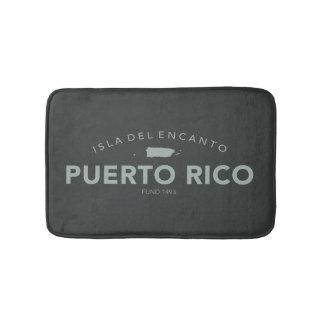 Puerto Rico Isla del Encanto Spa Blue Bathroom Mat