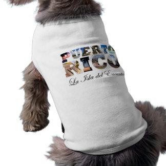Puerto Rico La Isla Del Encanto Collage / Montage Dog T Shirt