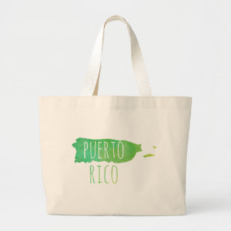 Puerto Rico Large Tote Bag