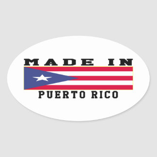 Puerto Rico Made In Designs Oval Sticker