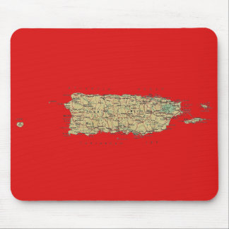 Puerto Rico Map Mousepad