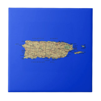 Puerto Rico Map Tile