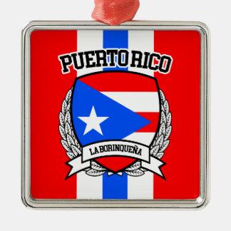 Puerto Rico Metal Ornament
