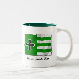 Puerto Rico Mug: Anasco Two-Tone Coffee Mug