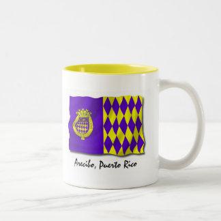 Puerto Rico Mug: Arecibo Two-Tone Coffee Mug