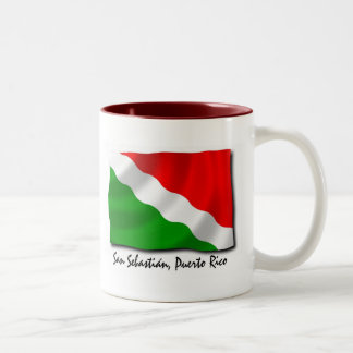 Puerto Rico Mug: San Sebastian Two-Tone Coffee Mug