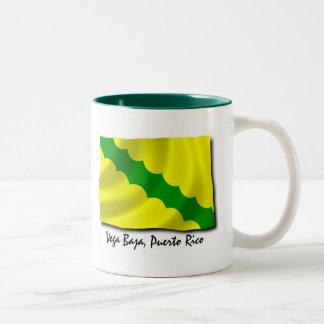 Puerto Rico Mug; Vega Baja Two-Tone Coffee Mug