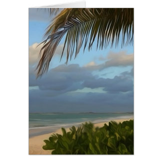 Puerto Rico Palm Beach Digital Art Greeting Card