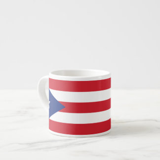 Puerto Rico Plain Flag Espresso Cup