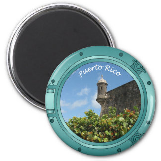 Puerto Rico Porthole Magnet