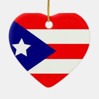 Puerto Rico Pride Ceramic Ornament
